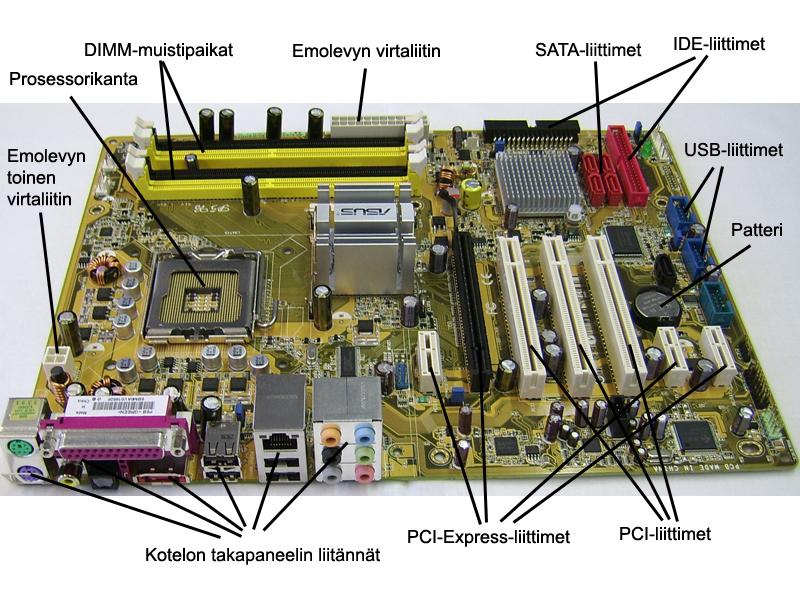 Tietokoneen Emolevy
